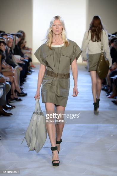 A model walks the runway at Belstaff Spring 2013 show during the Spring 2013 MercedesBenz Fashion Week at the IAC Headquarters on September 10 2012...