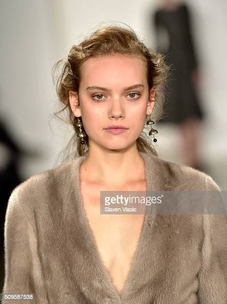 A model walks the runway at Brock Collection fashion show during Fall 2016 MADE Fashion Week at Milk Studios on February 11 2016 in New York City