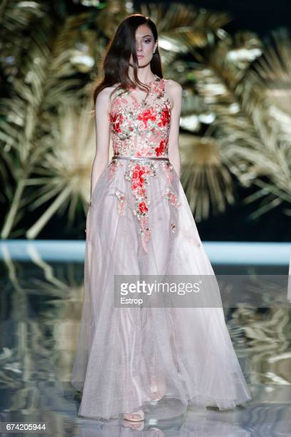 A model walks the runway at Cabotine by Gema Nicolas show during Barcelona Bridal Fashion Week 2017 on April 27 2017 in Barcelona Spain