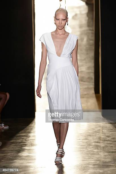 A model walks the runway at Cushnie Et Ochs during MADE Fashion Week Spring 2015>> at Milk Studios on September 5 2014 in New York City