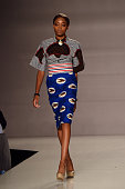 A model walks the runway at Fashion 4 Development 4th Annual Official First Ladies Luncheon at The Pierre Hotel on September 23 2014 in New York City