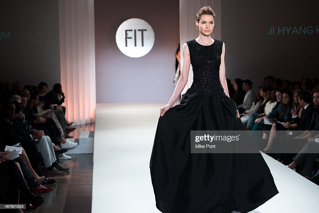 A model walks the runway at FIT's The Future Of Fashion Runway Show at The Fashion Institute of Technology on May 1, 2014 in New York City.