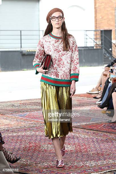 A model walks the runway at Gucci Cruise 2016 at Dia Art Foundation on June 4 2015 in New York City