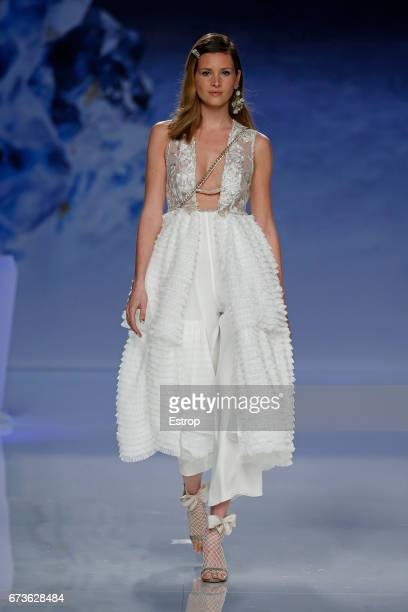 A model walks the runway at Inmaculada Garcia show during Barcelona Bridal Fashion Week 2017 on April 26 2017 in Barcelona Spain