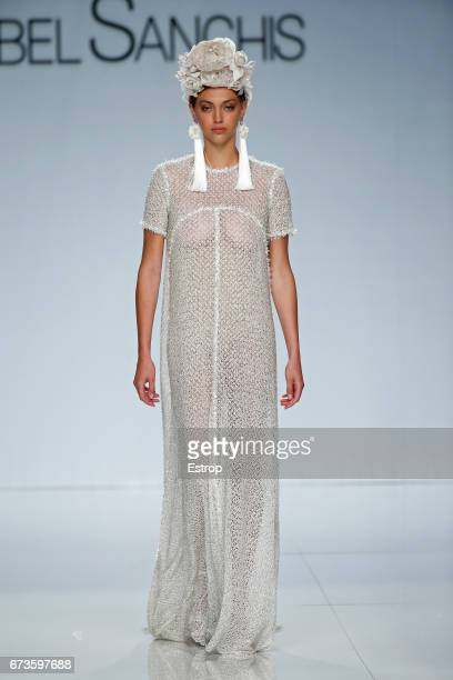 A model walks the runway at isabel Sanchis show during Barcelona Bridal Week 2017 on April 26 2017 in Barcelona Spain