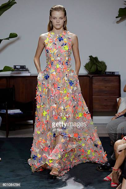 A model walks the runway at Jason Wu fashon show during New York Fashion Week at Spring Studios on September 9 2016 in New York City