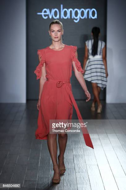 A model walks the runway at Kia STYLE360 Hosts Eva Longoria Collection at Metropolitan West on September 13 2017 in New York City
