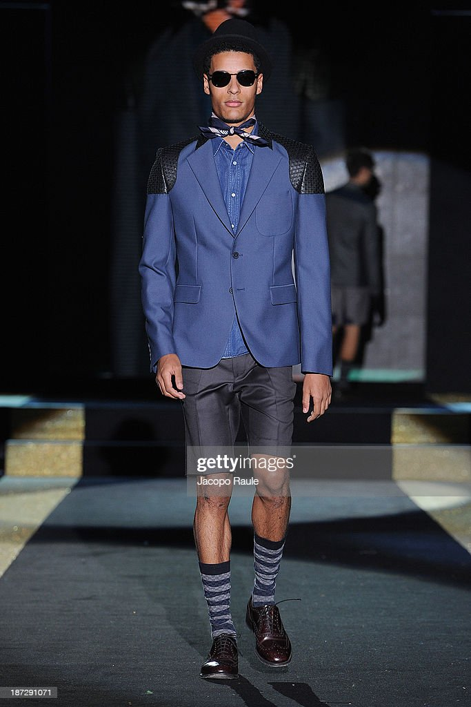 A model walks the runway at Kim Seung Hwan Fashion Show during the Mittelmoda Special Edition 2013 for Lectra on November 7, 2013 in Milan, Italy.