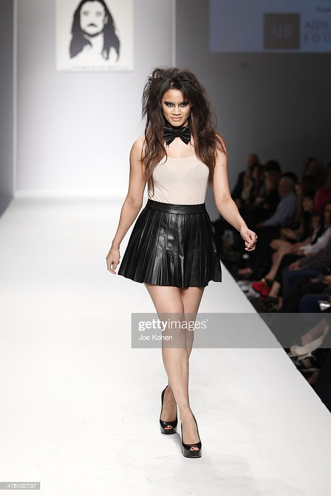 A model walks the runway at M The Movement fashion show during Style Fashion Week - Day 3 at L.A. Live Event Deck on March 11, 2014 in Los Angeles, California.