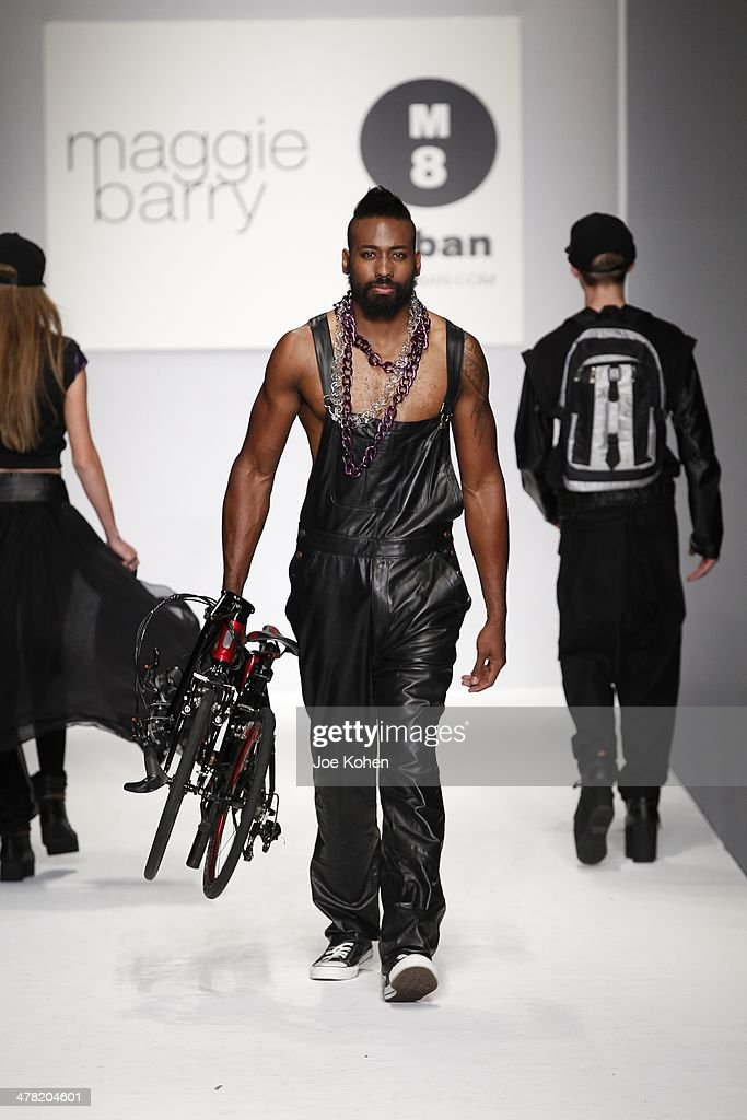 A model walks the runway at Maggie Barry fashion show during Style Fashion Week - Day 3 at L.A. Live Event Deck on March 11, 2014 in Los Angeles, California.