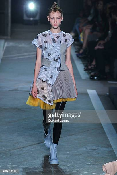 A model walks the runway at Marc By Marc Jacobs during MercedesBenz Fashion Week Spring 2015 at Pier 94 on September 9 2014 in New York City