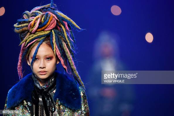 A model walks the runway at Marc Jacobs Ready to Wear Spring Summer 2017 show during New York Fashion Week on September 15 2016 in New York City