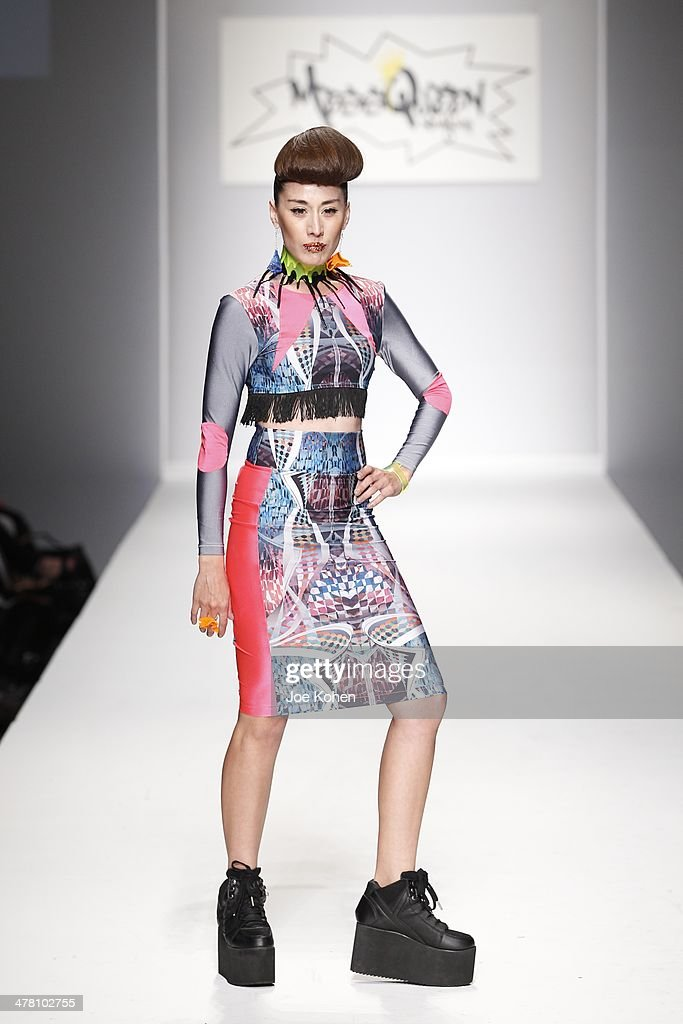 A model walks the runway at Messqueen fashion show during Style Fashion Week - Day 3 at L.A. Live Event Deck on March 11, 2014 in Los Angeles, California.