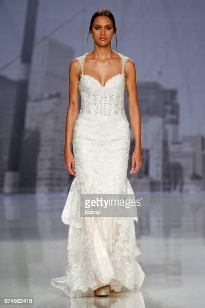 A model walks the runway at Morilee Madeline Gardner show during Barcelona bridal Fashion Week 2017 on April 28 2017 in Barcelona Spain