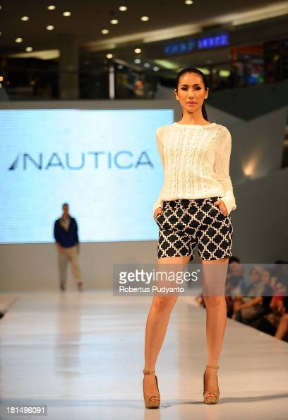A model walks the runway at Nautica fashion show during Ciputra World Fashion Week on September 21 2013 in Surabaya Indonesia