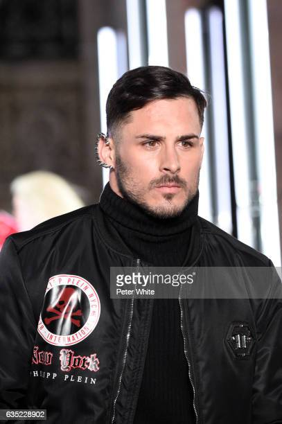 A model walks the runway at Philipp Plein show during New York Fashion Week The Shows at New York Public Library on February 13 2017 in New York City
