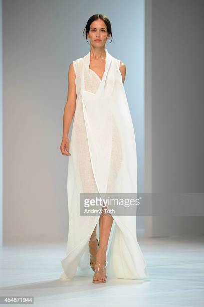 A model walks the runway at Porsche Design runway show during MercedesBenz Fashion Week Spring 2015 at Center 548 on September 7 2014 in New York City