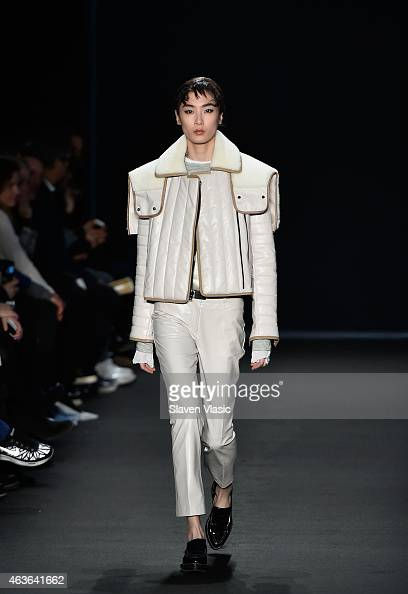 A model walks the runway at rag bone fashion show during MercedesBenz Fashion Week Fall 2015 at Spring Studios on February 16 2015 in New York City