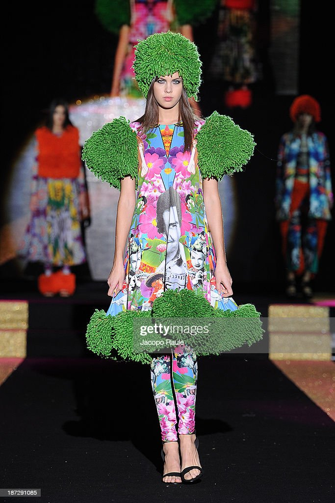A model walks the runway at Rakel Blomsterberg Fashion Show during the Mittelmoda Special Edition 2013 for Lectra on November 7, 2013 in Milan, Italy.