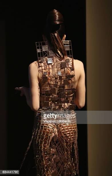 A model walks the runway at Salon Du Chocolat 2017 on February 9 2017 in Milan Italy