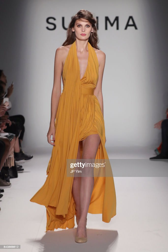 model-walks-the-runway-at-supima-design-competition-ss18-during-new-picture-id843868612