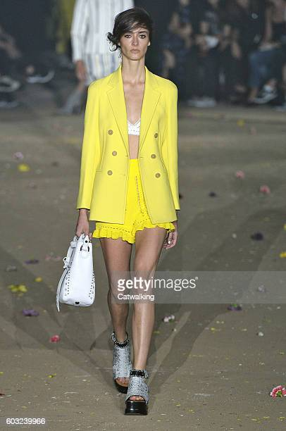 A model walks the runway at the 31 Phillip Lim Spring Summer 2017 fashion show during New York Fashion Week on September 12 2016 in New York United...
