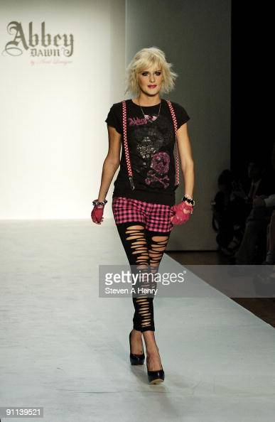 A model walks the runway at the Abbey Dawn by Avril Lavigne during Style360 Fashion Week at Metropolitan Pavilion on September 14 2009 in New York...