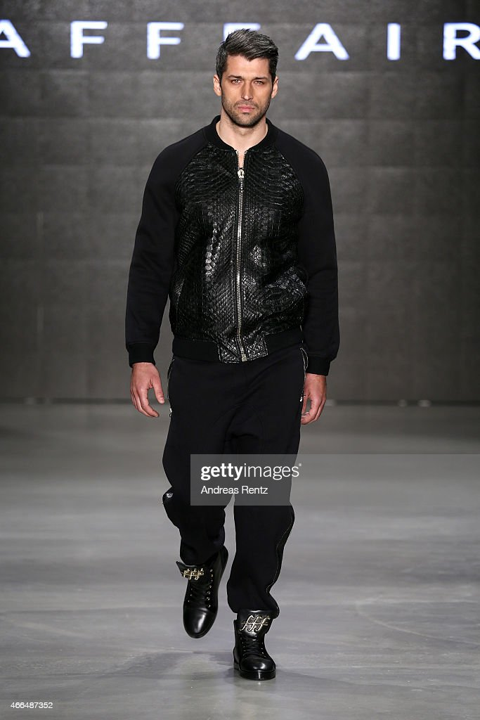 A model walks the runway at the Afffair show during Mercedes Benz Fashion Week Istanbul FW15 on March 16 2015 in Istanbul Turkey