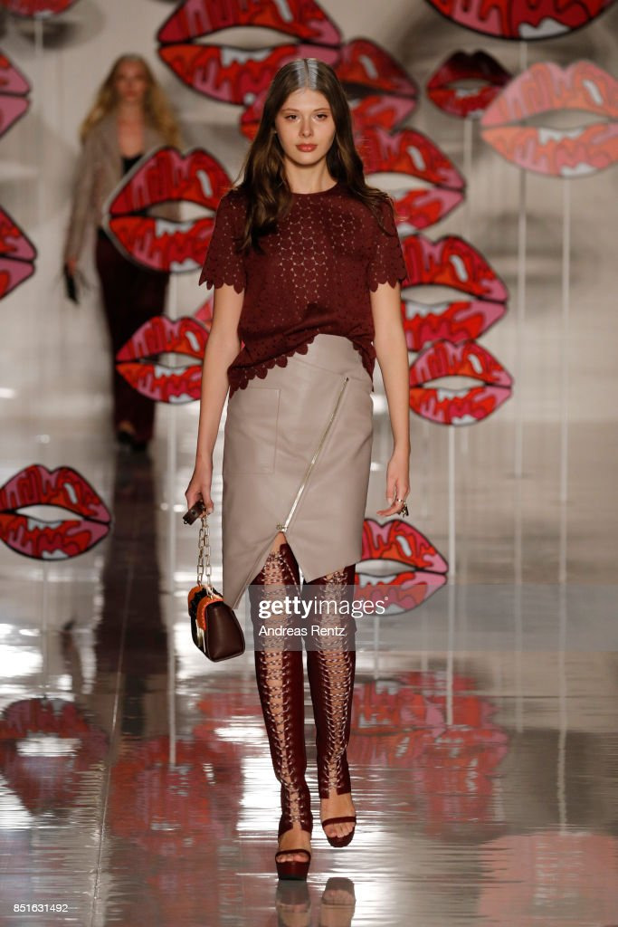 model-walks-the-runway-at-the-aigner-show-during-milan-fashion-week-picture-id851631492