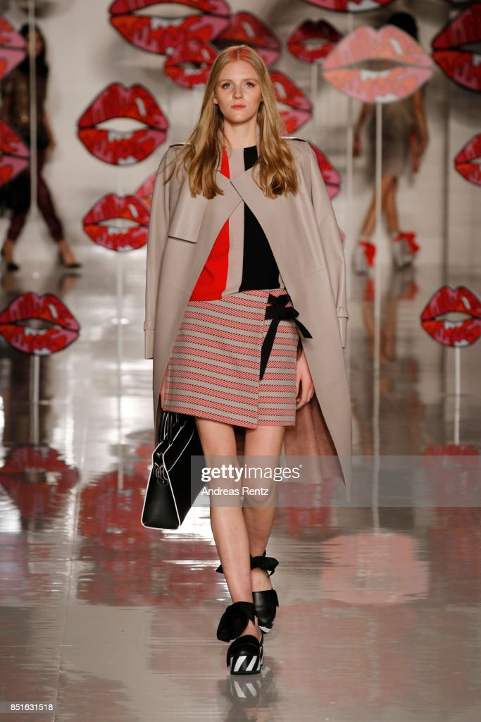 model-walks-the-runway-at-the-aigner-show-during-milan-fashion-week-picture-id851631518