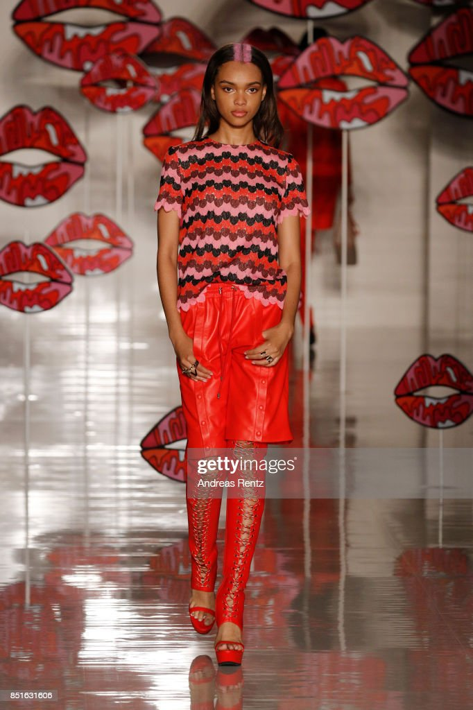 model-walks-the-runway-at-the-aigner-show-during-milan-fashion-week-picture-id851631606
