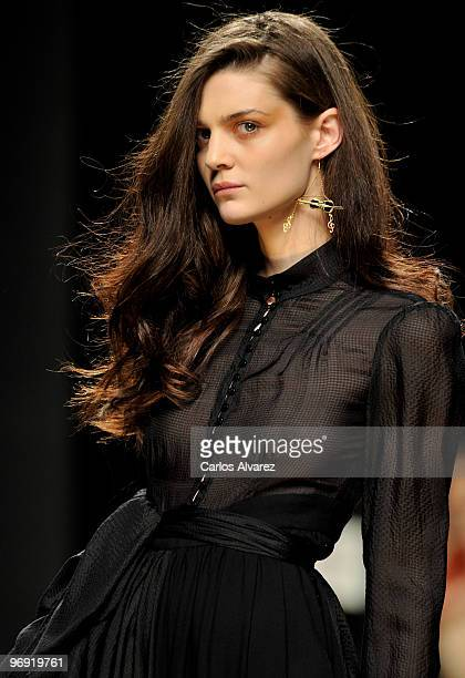 A model walks the runway at the Ailanto show during Cibeles Fashion Week at Ifema on February 21 2010 in Madrid Spain