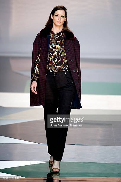 A model walks the runway at the Ailanto show during Madrid Fashion Week Fall/Winter 2015/16 at Ifema on February 10 2015 in Madrid Spain