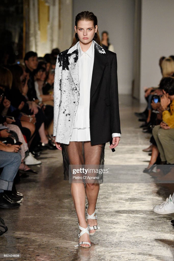 model-walks-the-runway-at-the-albino-teodoro-show-during-milan-week-picture-id852424838