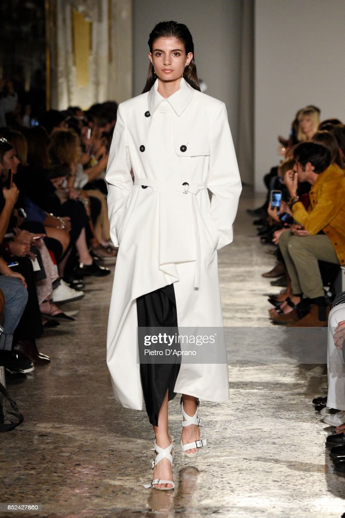 model-walks-the-runway-at-the-albino-teodoro-show-during-milan-week-picture-id852427860