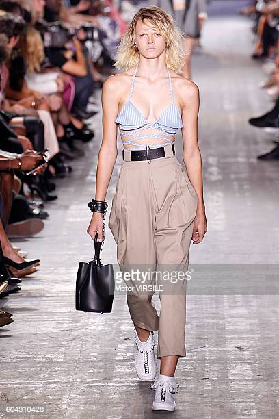A model walks the runway at the Alexander Wang Ready to Wear Spring Summer 2017 fashion show during New York Fashion Week September 2016 on September...