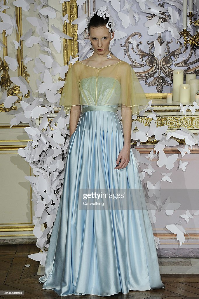 A model walks the runway at the Alexis Mabille Spring Summer 2014 fashion show during Paris Haute Couture Fashion Week on January 20, 2014 in Paris, France.