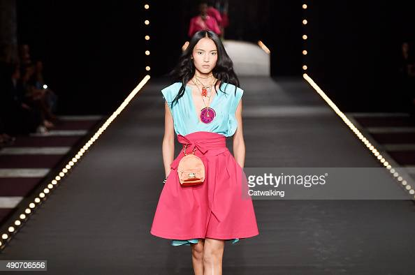 A model walks the runway at the Alexis Mabille Spring Summer 2016 fashion show during Paris Fashion Week on September 30 2015 in Paris France