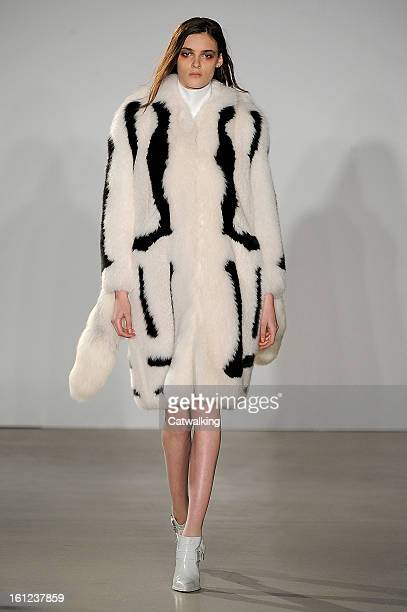 A model walks the runway at the Altuzarra Autumn Winter 2013 fashion show during New York Fashion Week on February 9 2013 in New York United States
