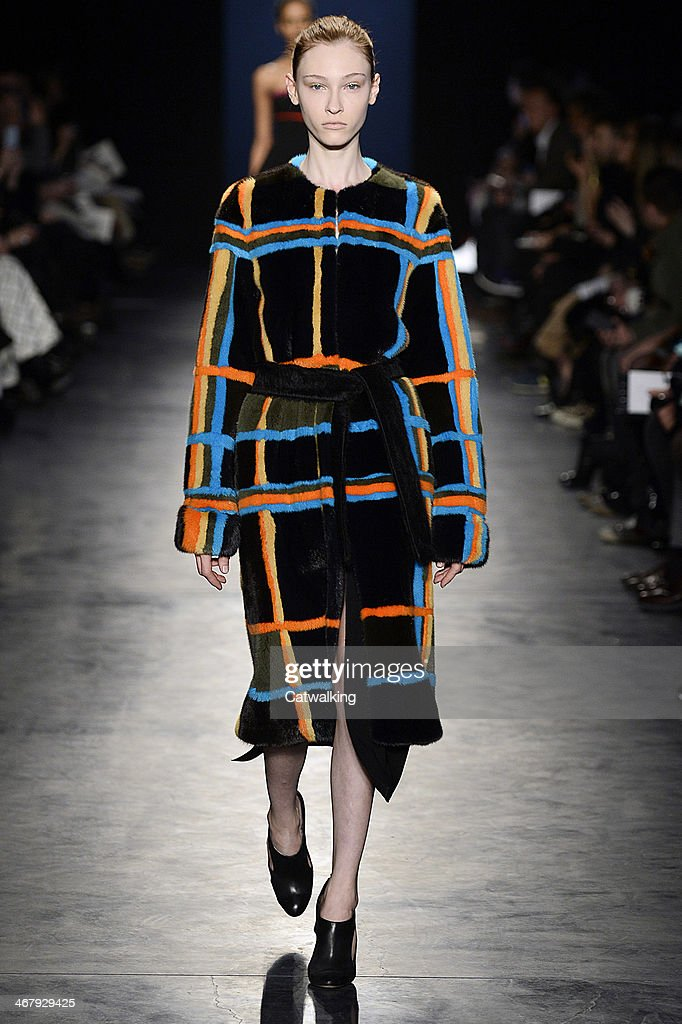 A model walks the runway at the Altuzarra Autumn Winter 2014 fashion show during New York Fashion Week on February 8, 2014 in New York, United States.