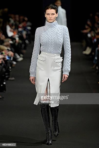 A model walks the runway at the Altuzarra Autumn Winter 2015 fashion show during New York Fashion Week on February 14 2015 in New York United States