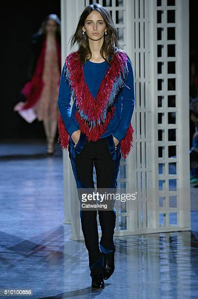 A model walks the runway at the Altuzarra Autumn Winter 2016 fashion show during New York Fashion Week on February 13 2016 in New York United States