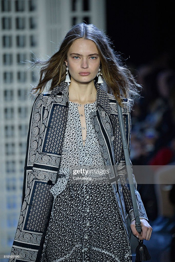 A model walks the runway at the Altuzarra Autumn Winter 2016 fashion show during New York Fashion Week on February 13, 2016 in New York, United States.