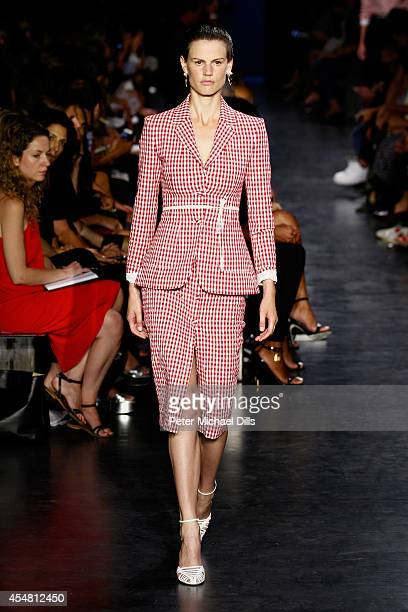 A model walks the runway at the Altuzarra fashion show during MercedesBenz Fashion Week Spring 2015 at Spring Studios on September 6 2014 in New York...