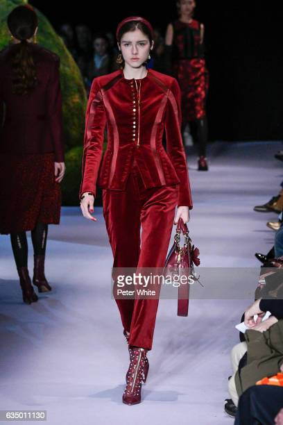 A model walks the runway at the Altuzarra February 2017 fashion show on February 12 2017 in New York City