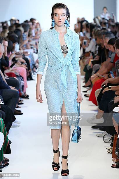 A model walks the runway at the Altuzarra Ready to Wear Spring Summer 2017 fashion show during New York Fashion Week September 2016 on September 11...