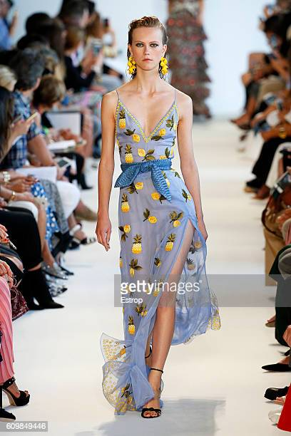 A model walks the runway at the Altuzarra show at Spring Studios on September 11 2016 in New York City
