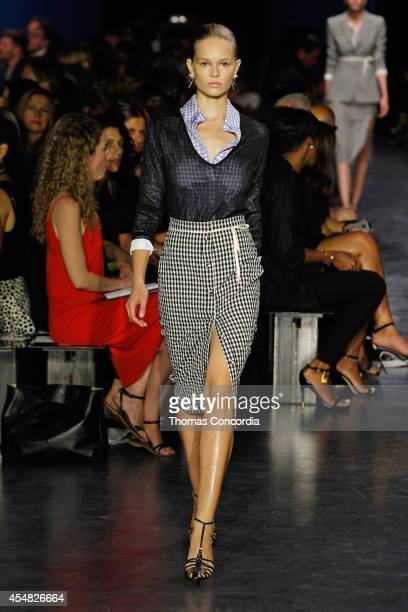 A model walks the runway at the Altuzarra show during MercedesBenz Fashion Week Spring 2015 at Spring Studios on September 6 2014 in New York City
