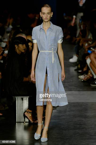 A model walks the runway at the Altuzarra Spring Summer 2015 fashion show during New York Fashion Week on September 6 2014 in New York United States