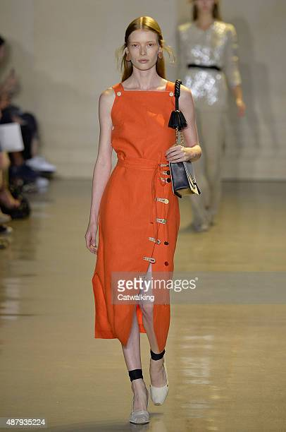 A model walks the runway at the Altuzarra Spring Summer 2016 fashion show during New York Fashion Week on September 12 2015 in New York United States